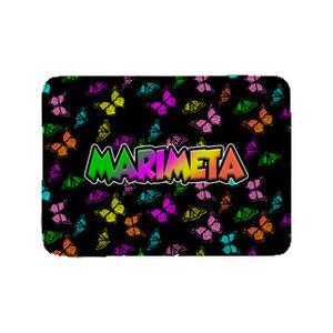 Camp Marimeta Neon Butterflies Mat