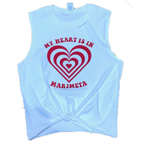 My Heart Is In Camp Tie Front Tank