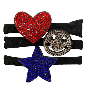 Red, White and Blue Rhinestone Pony Set