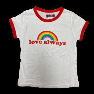 Love Always Rainbow Ringer Shirt