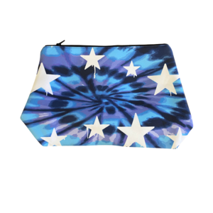 Tie Dye Dripping Stars Large Neoprene Cosmetic Bag