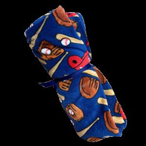 Blue Baseballs Fuzzy Blanket