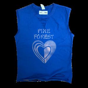 Cut Out Heart Deep Ribbon V-Neck Muscle Camp Shirt Camp Muscle Shirt