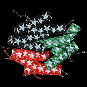 Beaded Star Pull Tie Bracelet