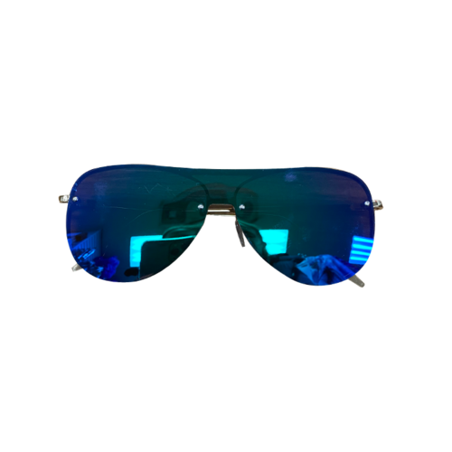 Blue Frameless Sunglasses