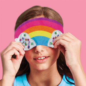 Rainbow Fleece Eye Mask