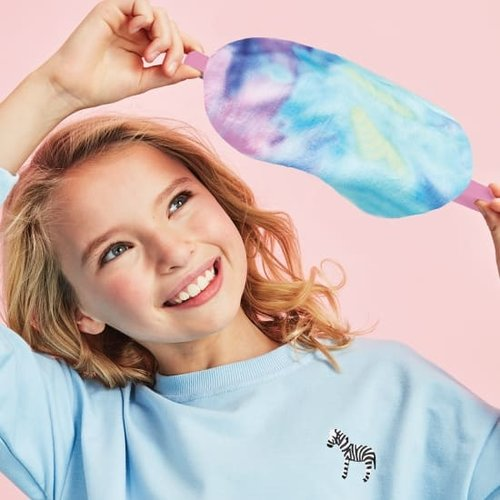 Pastel Tie Dye Fleece Eye Mask