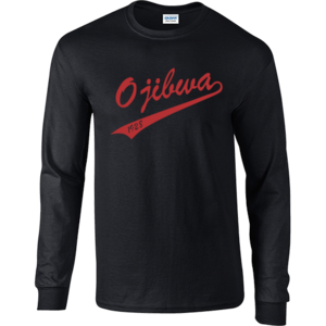 Camp Ojibwa Black Long Sleeve Performance Shirt