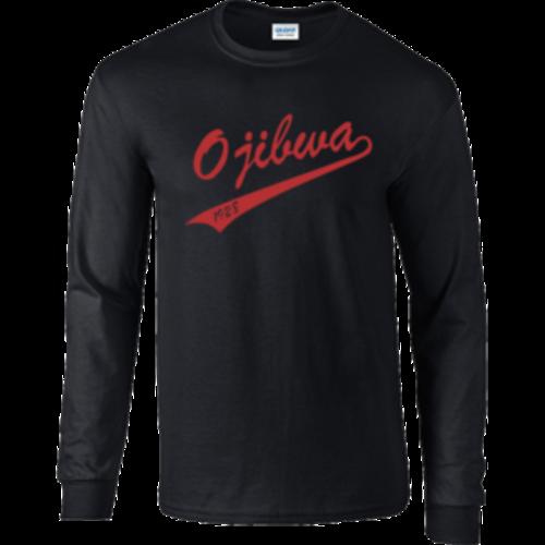 Camp Ojibwa Black Long Sleeve Performance Shirt