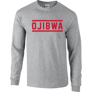 Camp Ojibwa Gray Long Sleeve Performance Shirt