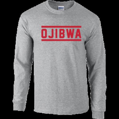 Camp Ojibwa Gray Long Sleeve Performance Shirt