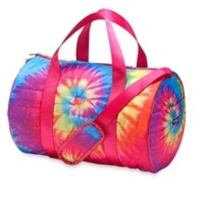 Purple Pink Yellow Turquoise Puffer Duffel Bag