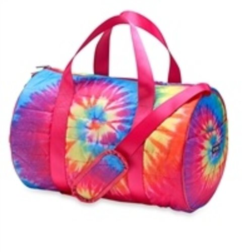 Purple Pink Yellow Turquoise Puffer Duffel Bag