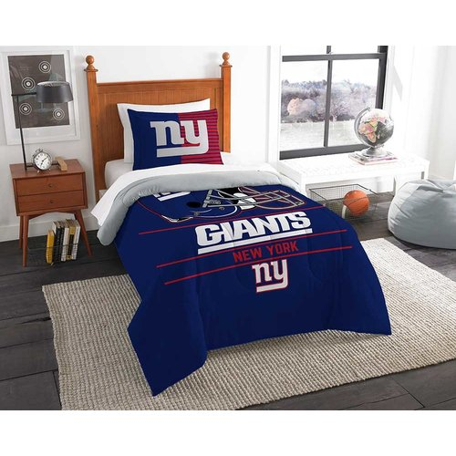 New York Giants Twin Sized Comforter and Sham Set