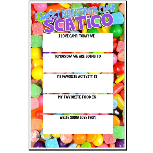 Fill-In Sweet Candy Notecards