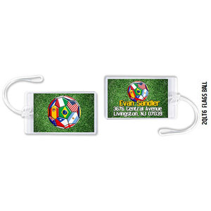 Flags and Ball Luggage Tag