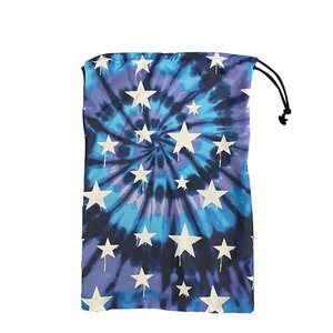 Tie Dye Dripping Stars Sock Bag