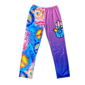 Hippie Hamsa Fuzzy Pants
