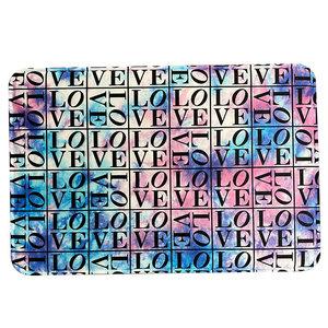 Tie Dye Love Squared Mat