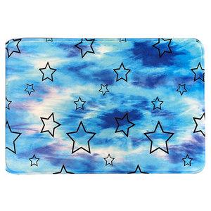 Blue Tie Dye Star Mat