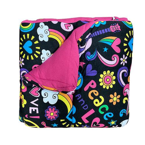 Reversible Pink/Black Groovy Jersey Comforter