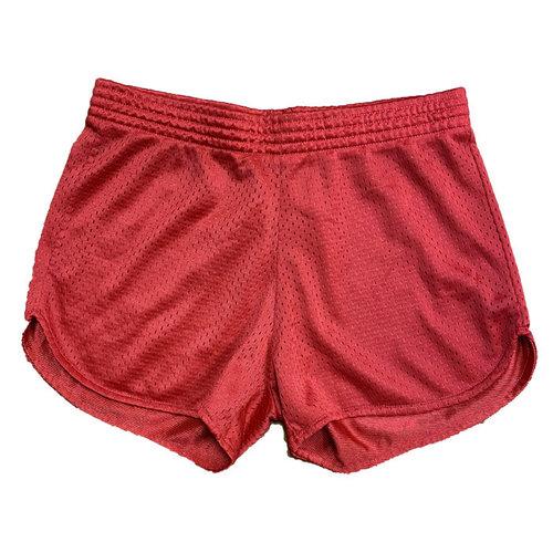 Red Mesh Shorts