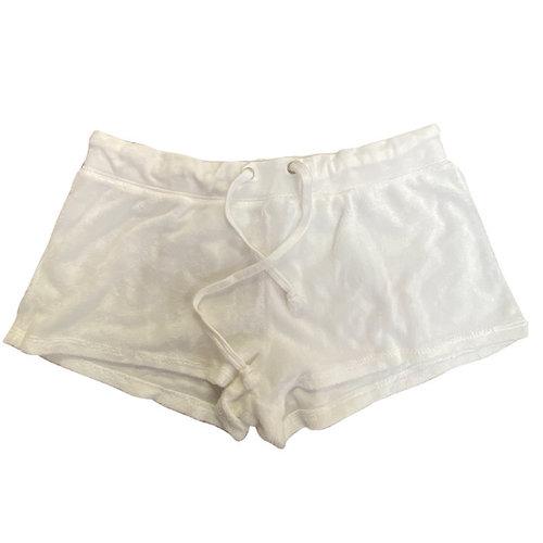 So Nikki White Terry Shorts