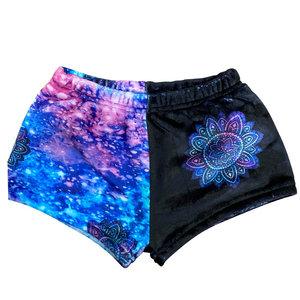 Flower Galaxy Fuzzy Shorts