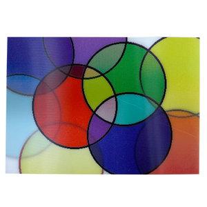 Colorful Circles 3-D Postcard
