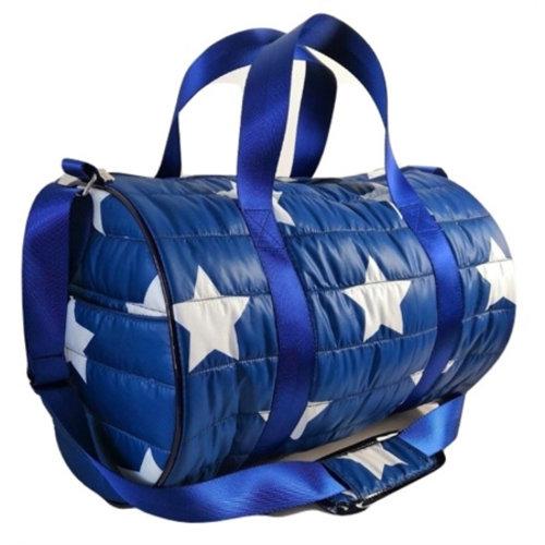Navy Star Puffer Duffel Bag