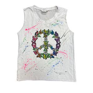 Peace Butterfly Sleeveless Shirt