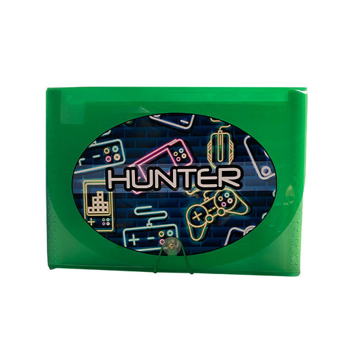 Neon Gamer 7-Pocket File