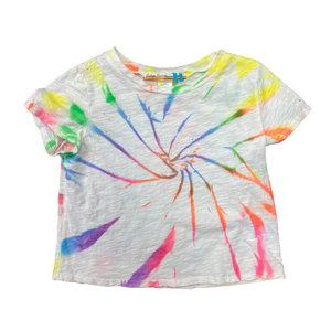 Neon Tie Dye Crop T-Shirt