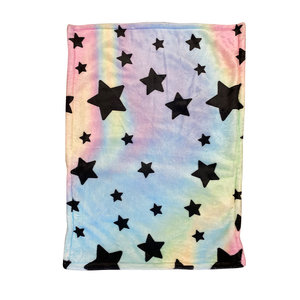 Pastel Tie Dye Star Fuzzy Sham