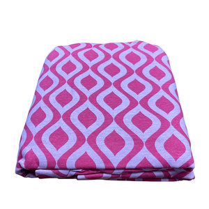 Pink Wave Jersey Sheet Set
