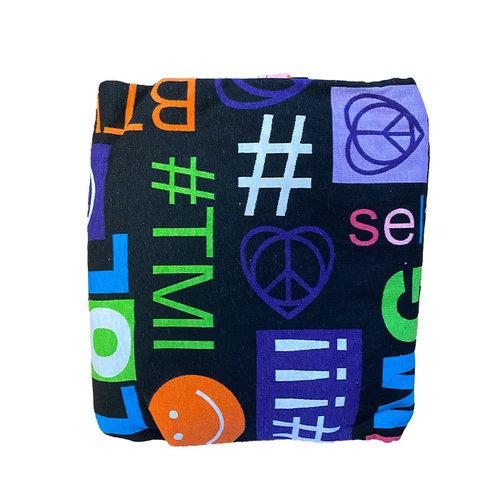 Black Social Media Jersey Comforter