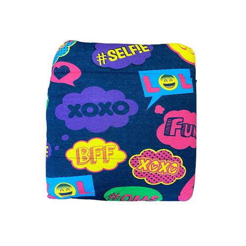 Text Bubbles Jersey Comforter