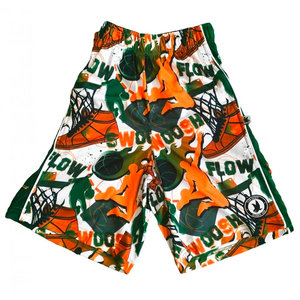 Swoosh Green & Orange Flow Society Shorts