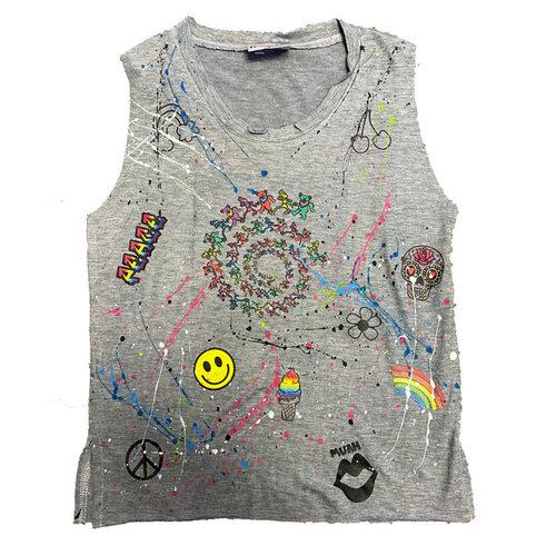 Splattered Steal Your Face Sleeveless Shirt