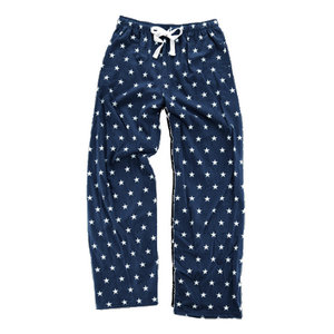 Navy And White Star Flannel Pants