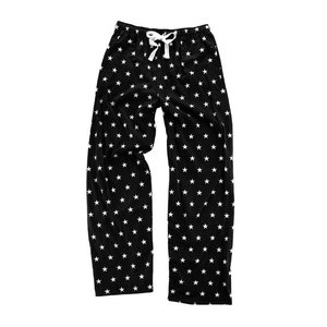 Black and White Stars Flannel Pants