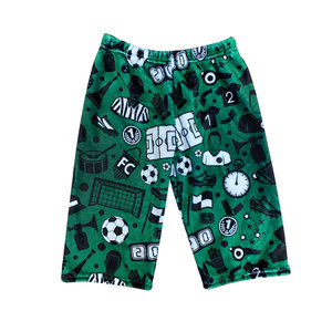 Green Soccer Fuzzy Boy Shorts
