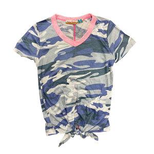 Navy Camo Pink Collar