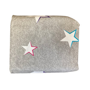 Heather Gray Stars 3-Piece Sheet Set
