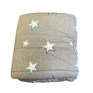 Heather Gray Stars Camp Comforter