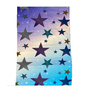 Glitter Stars Fuzzy Throw Blanket