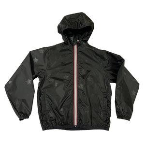 Black Stars Packable Rain Jacket