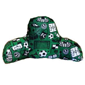 Green Soccer Fuzzy Bedrest