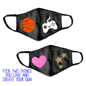 Design Your Own Face Mask (w/filter pocket)