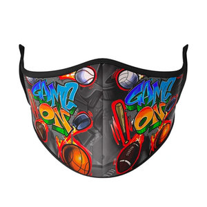 Game On Face Mask with Filter Pocket (Kid/Tween Size)